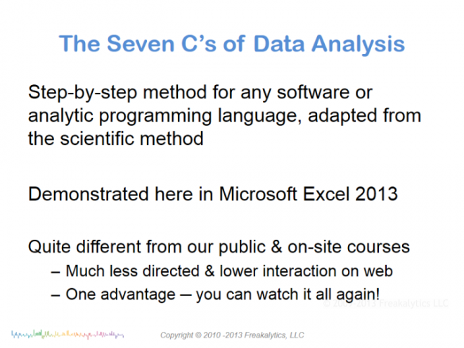 201308_Excel_and_ 7Cs_Webinar_by_Freakalytics_02b