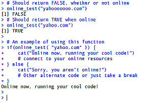 An R function to check if you are online…