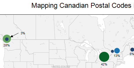 Mapping Canadian Postal Codes In Tableau Freakalytics - Canada postal code database free download