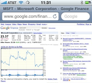 Google Finance iPhone 2