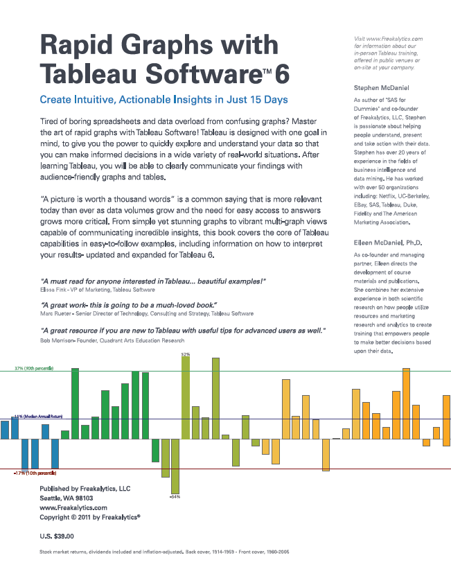 Rapid Graphs with Tableau Software 6 Back Cover