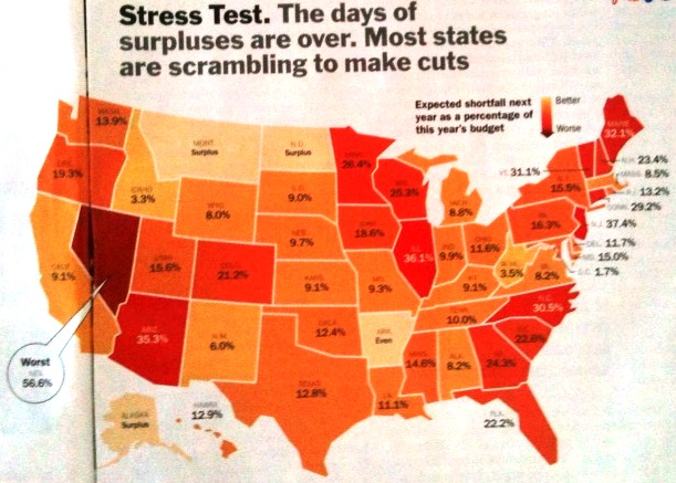 Map dashboard, state budget shortfalls for 2011, just 30 minutes with Tableau